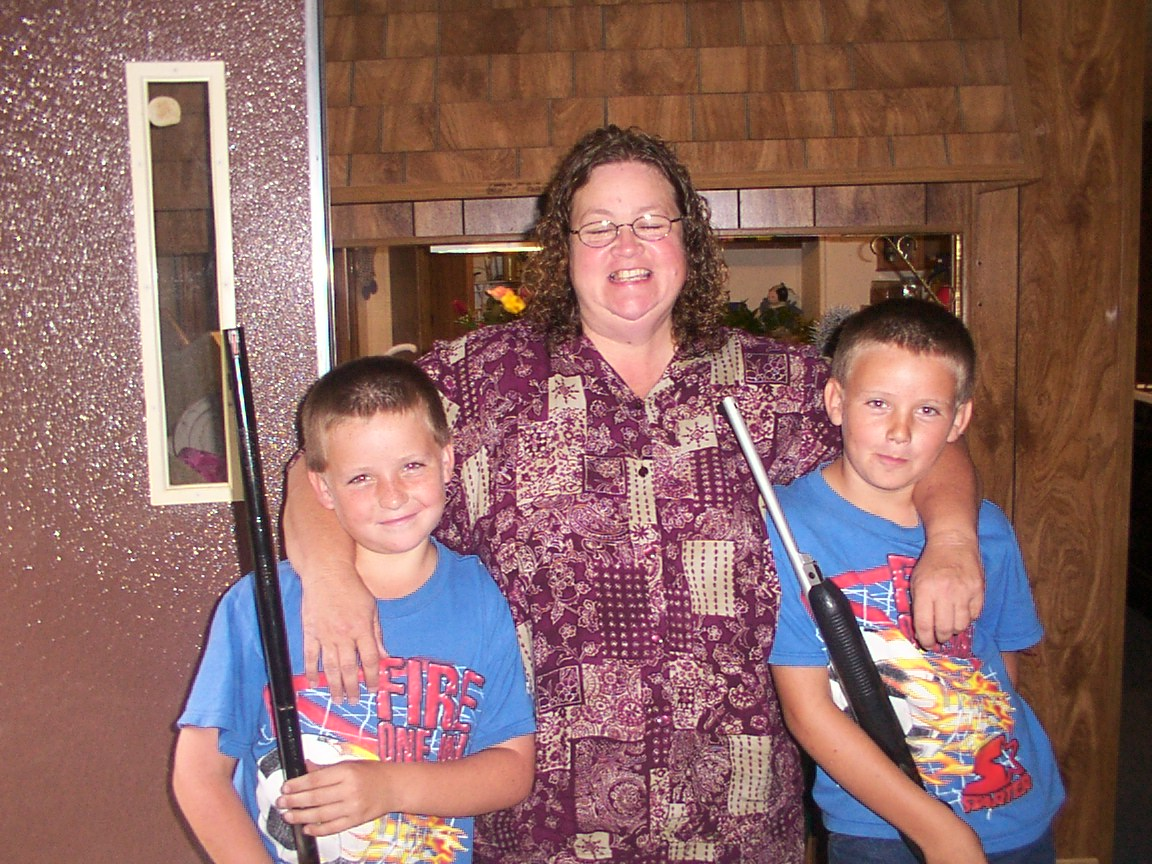 Boys with grandma